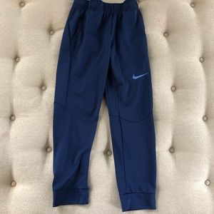 Nike Dri Fit Joggers Blue Pockets Youth Large